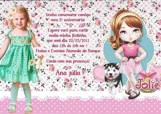 Convite digital personalizado Jolie da Tilibra com foto 001