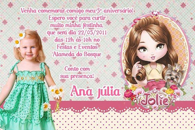 Convite digital personalizado Jolie da Tilibra com foto 005