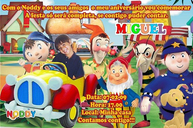 Convite digital personalizado do Noddy com foto 003