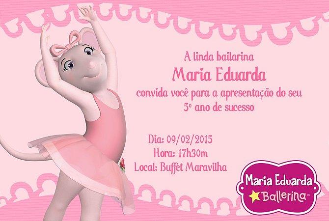 Convite digital personalizado Angelina Bailarina 001