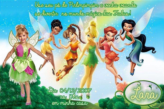 Convite digital personalizado Fadas Disney com foto 027