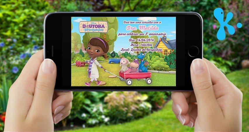 Convite digital personalizado Doutora Brinquedos 002