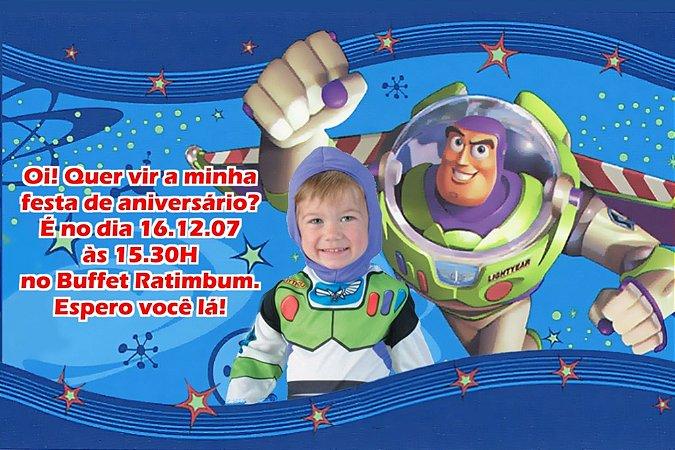 Convite digital personalizado Buzz Lightyear Toy Story com foto 002