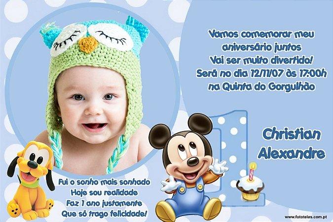 Convite digital personalizado Baby Disney com foto 023