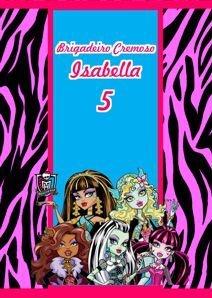 Adesivo para bisnaguinha de brigadeiro Monster High