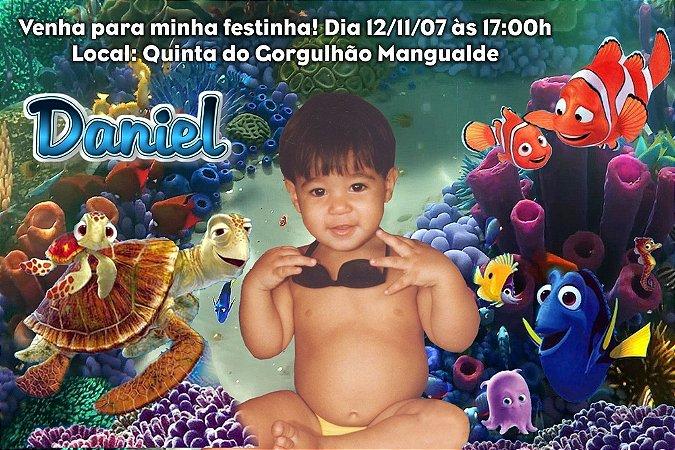 Convite digital personalizado Procurando Nemo com foto 005