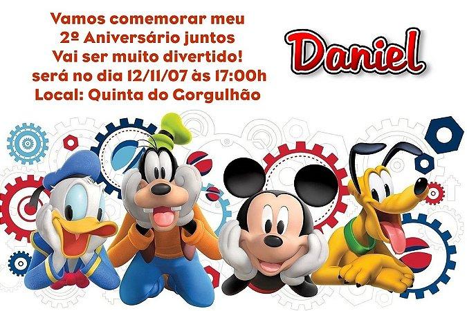Convite digital personalizado A Casa do Mickey Mouse 007