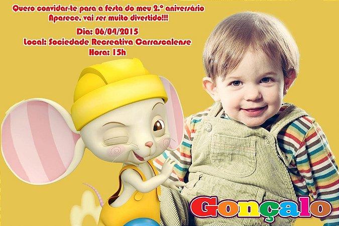 Convite digital personalizado Baby TV 027 com foto