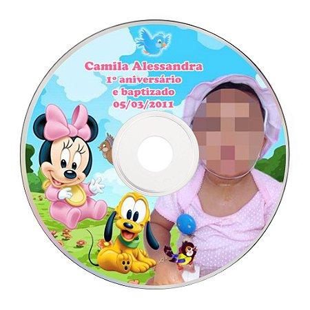 Rótulo adesivo CD/DVD - Baby Disney