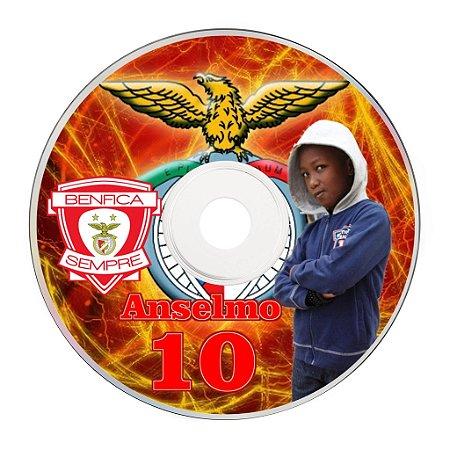 Rótulo adesivo CD/DVD - Benfica