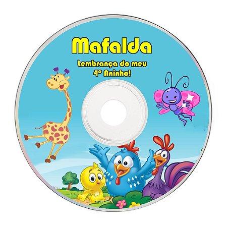 Rótulo adesivo CD/DVD - Galinha Pintadinha