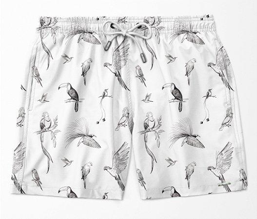 Summer Shorts Premium (Microfibra) - Birds