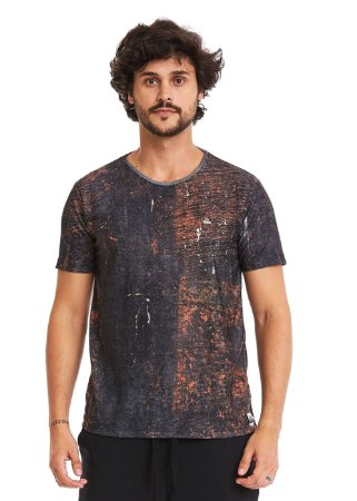 Camiseta Estampada - Rust