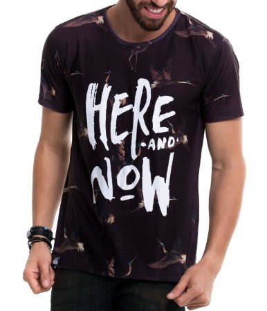 Camiseta Estampada - Here and Now
