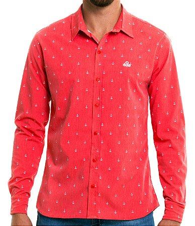 Camisa Manga Longa - Salmon Navy