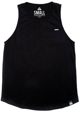 Regata de algodão longline Basic - All Black