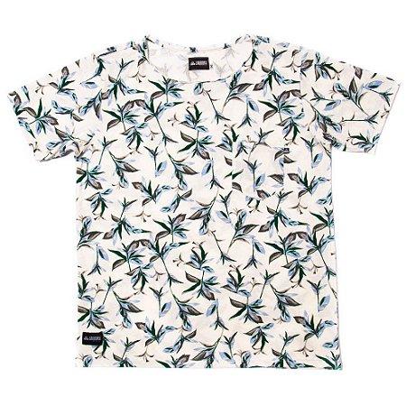 Camiseta Estampada - Off Flowers