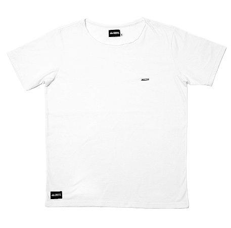 Camiseta Básica Corte A Fio 100% Algodão LaVíbora - Branca