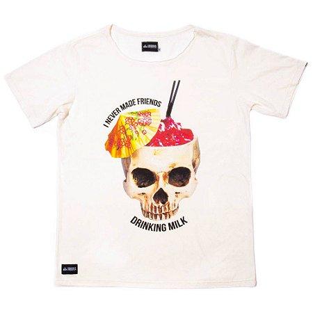 Camiseta de algodão - Drinking Milk