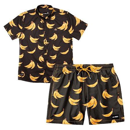Conjunto Estampado Camisa & Shorts - Bananas