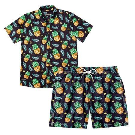 Conjunto Estampado Camisa & Shorts - Pineapple