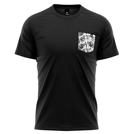 Camiseta Bolso Estampado - Folhagem Winter
