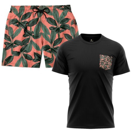 Kit Shorts Praia E Camiseta Bolso Estampado LaVibora - Playa