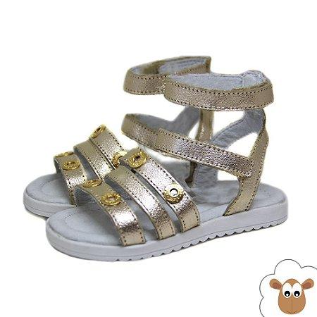 Sandália Gladiadora - Aleka - Dourado