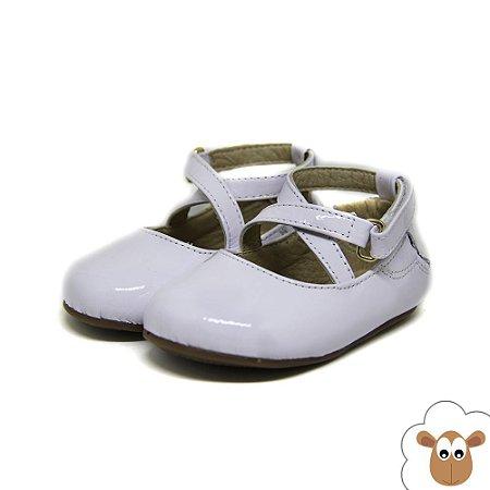 Sapatilha Infantil - Gambo - Verniz Branco