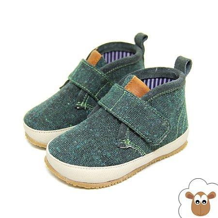 Bota Infantil Sheep Shoes Verde Velcro