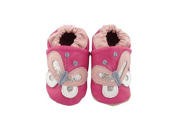 Pantufa Infantil Catz Nicky Borboleta Pink e rosa