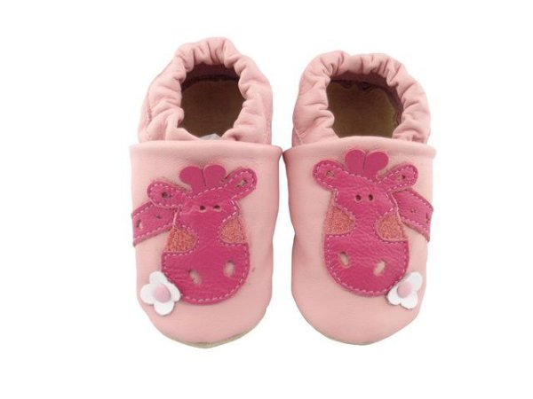 Pantufa Infantil Catz Nicky Girafa Rosa e pink