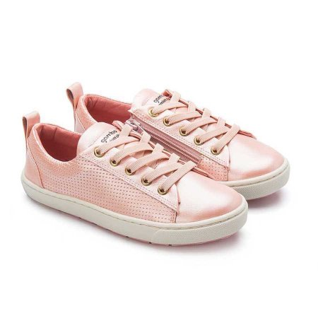 Tênis infantil Sheep Shoes by Gambo Glíter Blossom (rosa bebê) Cadarço elástico