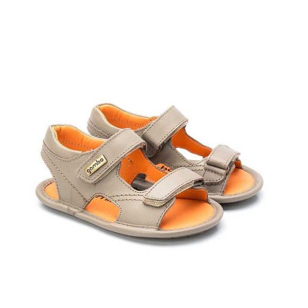 Sandália Infantil Sheep Shoes by Gambo 2 Velcros Taupe