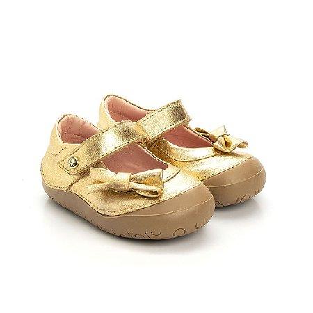 Sapatilha infantil Gambo Gloss e Ouro