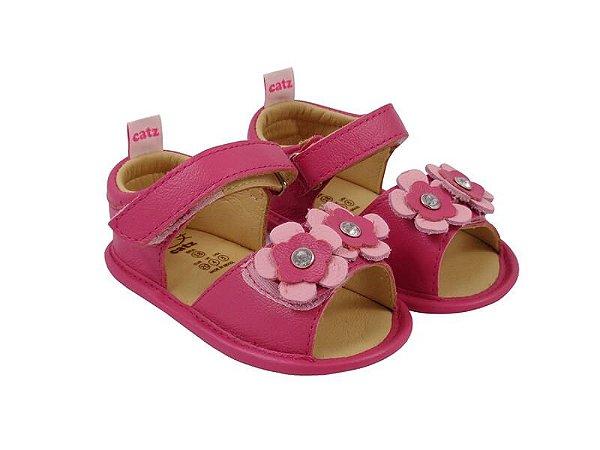 Sandália Infantil Catz Gipsy Pink Flores