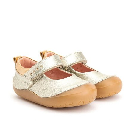 Sapatilha Infantil Gambo New Step Ouro Light e Blush