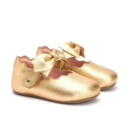 Sapatilha Infantil Gambo Baby Babaloo e Ouro