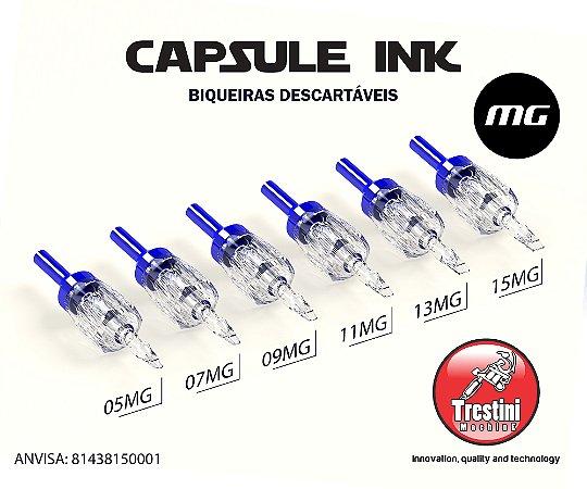 Biqueira descartável CAPSULE INK sem agulha para Pintura cx c/20 Unidades