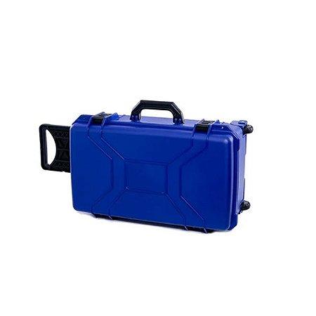 Maleta Grande Azul resistente a água e choque com rodinha - MP0055