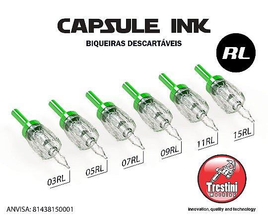 Biqueira descartável CAPSULE INK sem agulha para Traço cx C/ 20 Unidades