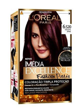 IMÉDIA Excellence Fashion Paris Coloração Permanente 6.520 Violeta Spike