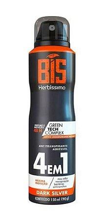 HERBÍSSIMO Desodorante Antitranspirante Aerosol 4em1 Dark Silver 150ml