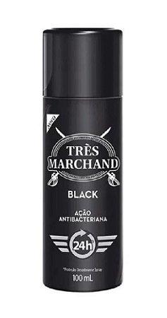 TRÈS MARCHAND Desodorante Antibacteriano Spray Black 100ml