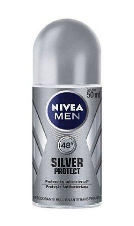 NIVEA MEN Desodorante Antibacteriano Roll On Silver Protect 50ml
