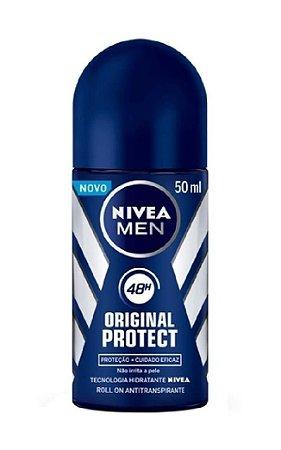 NIVEA MEN Desodorante Antitranspirante Roll On Original Protect 50ml