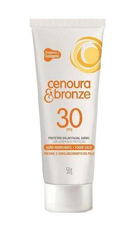 CENOURA & BRONZE Protetor Solar Facial FPS 30 Toque Seco 50g