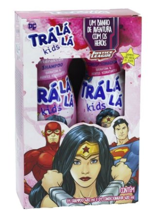 TRÁ LÁ LÁ Kids HidraKids Kit Queratina Liga da Justiça Shampoo + Condicionador 480ml