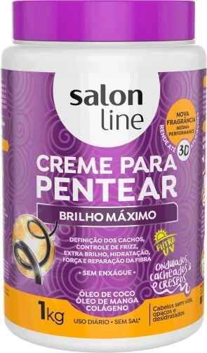 Salon Line Creme para Pentear Brilho Máximo 1Kg