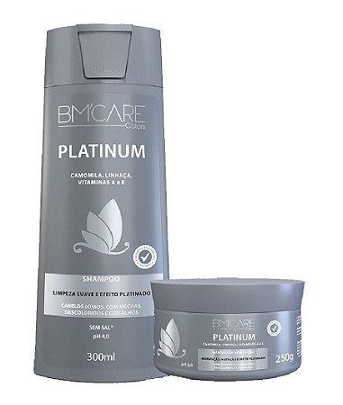 BARROMINAS Colors Platinum Kit Desamarelador Shampoo 300ml + Máscara Capilar 250g